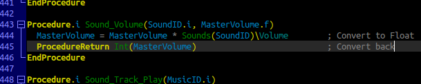 Volume control code